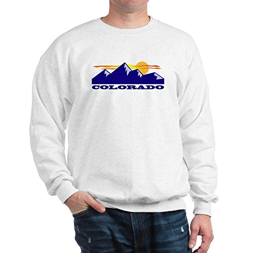 Colorado Crew Sweatshirt - CafePress Colorado Rocky Mountains Classic Crew Neck Sweatshirt White