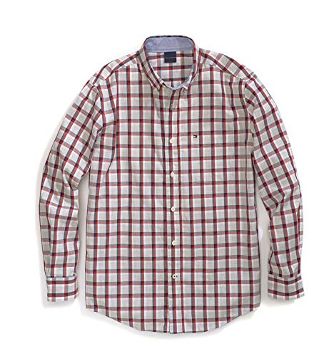 Magnetic Button Shirt Regular Fit, Apple red, Large ()