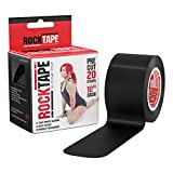 RockTape Original 2-Inch Water-Resistant Kinesiology Tape, 20 Pre-Cut Strips, Black