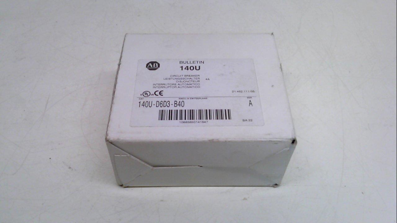 Allen Bradley 140U-D6d3-B40, Series A, Circuit Breaker, 600Vac, 3 Pole 140U-D6d3-B40 Series A