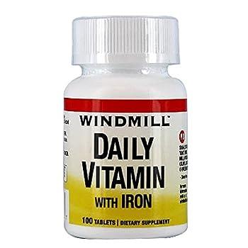 DAILY VITAMIN TB W/IRON WMILL Size: 100