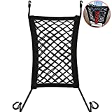 HSAN Pet Barrier,Black Dog Barrier Car Seat Net Organizer Universal Stretchy Auto Backseat Barrier Net Storage for Back Seat To Keep Your Pets And Drivers Safety