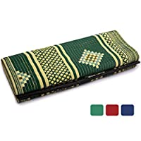 IndigoMer Outdoor Patio Rug - Reversible Outdoor Mat and RV Patio Rug Large Authentic Handmade Weatherproof, Sand Proof Perfect for Brightening Up Your Backyard Camping and Outside Living Space