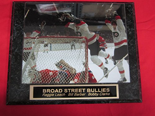 Philadelphia Flyers Broad Street Bullies Engraved Collector Plaque #1 w/8x10 Photo