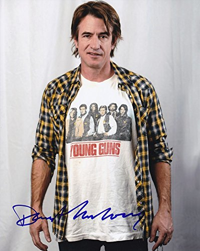 DERMOT MULRONEY signed autographed YOUNG GUNS T-SHIRT photo