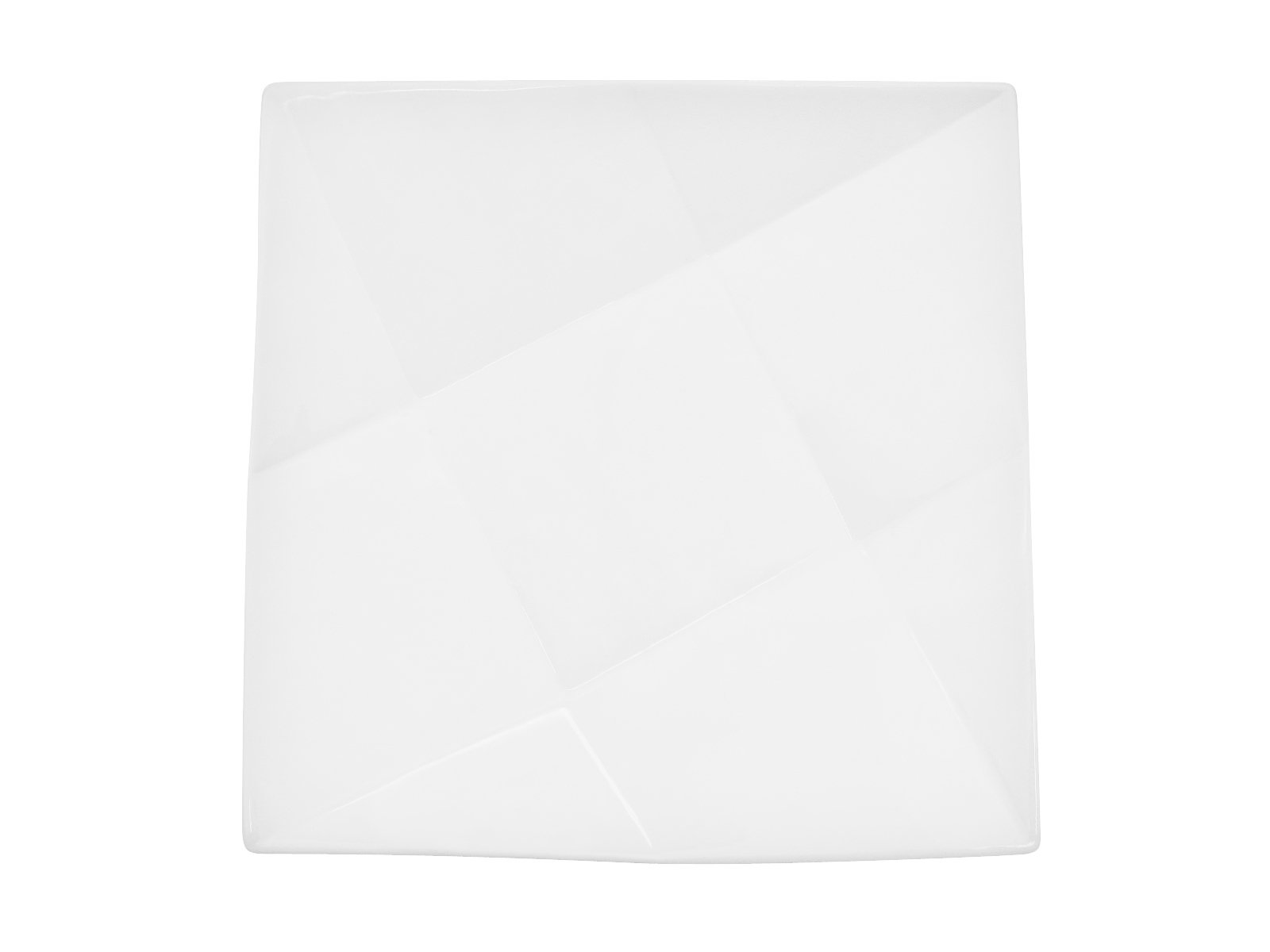 CAC China QZT-7 Crystal 7-Inch Super White Porcelain Square Plate, Box of 36