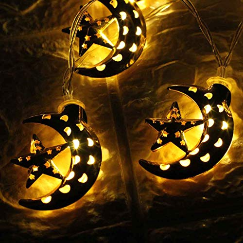 (Ramadan Decoration for Home,Ramadan Lights of Home Festival Party,Ramadan Decorative Crescent Moon Decor)