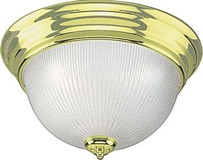 Volume Lighting V7274-2 3-Light Flush Mount Ceiling Fixture, Polished Brass