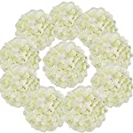 Flojery-Silk-Hydrangea-Heads-Artificial-Flowers-Heads-with-Stems-for-Home-Wedding-DecorPack-of-10-Ivory