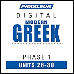 Greek (Modern) Phase 1, Unit 26-30