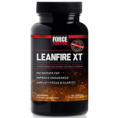 Force Factor LeanFire XT Thermogenic Fat Burner Weight Loss Supplement with Clear Energy, 60 Count (Calorie Burner)