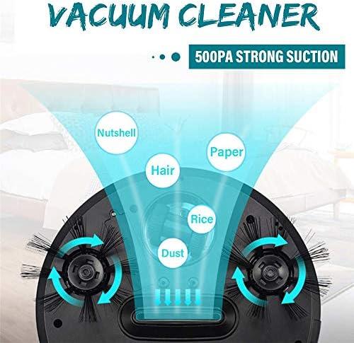 KOUPA Aspirateur, Robot Portable USB Recharge Intelligent Maison Automatique Balayage Poussière Intelligente Brosse Sol Cheveux Aspirateurs