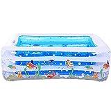 LQQGXL,Bath Children's inflatable pool baby home PVC bathtub transparent blue Inflatable bathtub