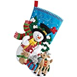Bucilla Forest Friends Felt Applique Stocking Kit, 86657 18-Inch