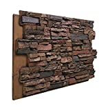 "BuyFauxStone 48""W X 24""H X 1½""D Deep Stacked Stone Wall Panel-TERRACOTTA offers"