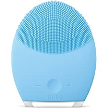 FOREO LUNA 2 Facial Cleansing Brush and Portable Skin Care device made with Ultra Hygienic Soft Silicone for Every Skin Type USB Rechargeable Combination Skin