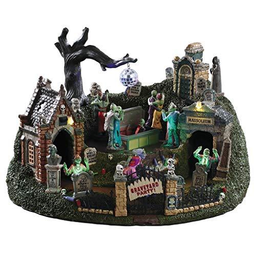 Lemax Halloween Village Graveyard Party]()