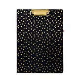 Vera Bradley Women's Clipboard Folio (Midnight Gold Dots)