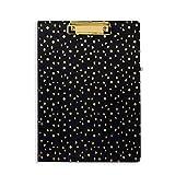 vera bradley desk organizer - Vera Bradley Women's Clipboard Folio (Midnight Gold Dots)