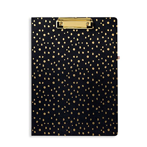 Vera Bradley Women's Clipboard Folio (Midnight Gold Dots) by Vera Bradley
