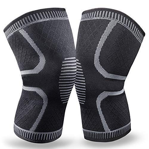 BERTER Knee Brace for Men Women – Compression Sleeve Non-Slip for Running, Hiking, Soccer, Basketball for Meniscus Tear Arthritis ACL Pair Wrap
