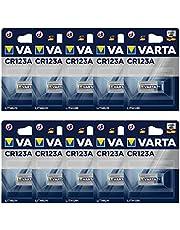 Varta CR123A professionellt batteri (10-pack, fotobatteri litiumjon för högteknologiska kameror och blixtar eller övervakningskameror)