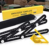 Precise Multi Angle Measuring Ruler - Aluminum Alloy Multi Functional Measurement Layout Tool -Strong Template Tools for Woodworkers, Builders,Craftsmen, Carpenters, Tilers, DIY-ers