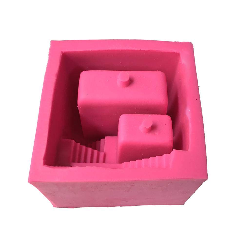 HoneybeeLY - Molde de Silicona con Forma de Escalera para Maceta de Flor de Cemento, 50 °C a 300 °C: Amazon.es: Hogar