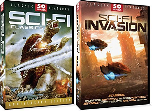 100 Sci-Fi Classics & Invasion Movie Pack 24-Disc Set Brother From Another Planet Kong Island