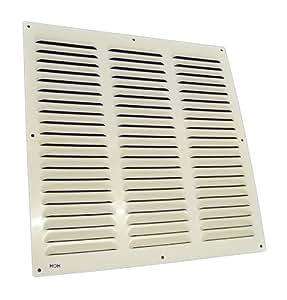 LG-4040 W - Rejilla de ventilación (aluminio, 400 x 400 mm), color blanco