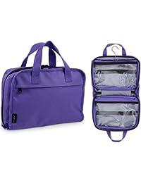 Travel Cosmetic Bag Hanging Toiletry Makeup Organizer - Medium Size, YKK Zippers