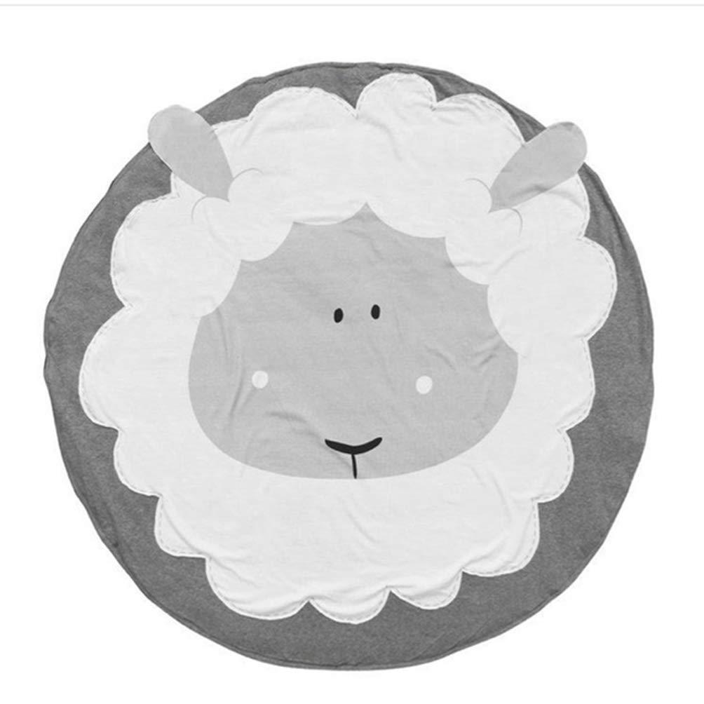 Jim Hugh 90cm ベビー プレイマット カーペット 子供部屋 Koala うさぎ アニマル ソフト コットン クロウリング マット ラウンド フロア ラグ プレイマット ベビー ジム マット A6937  2 B07HH333N4