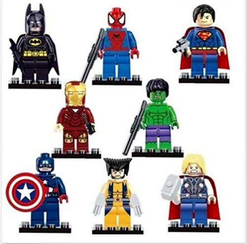 8pcs/set the Avengers Age of Ultron Superheroes Minifigures Building Blocks Toys