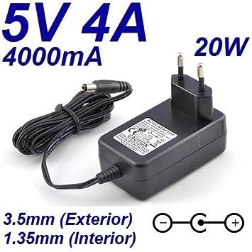 Cargador Corriente 5V 4A 4000mA 3.5mm 1.35mm 20W Wall Plug ...