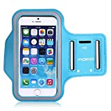 Universal Sports Armband, MoKo Water Resistant Running Case Workout Arm Band Cover for iPhone 8, iPhone 7, 6S, 6, 5S, 5, SE, Galaxy S7, S6, S6 Edge, J5, Moto Pixel Huawei Sony LG, Light Blue