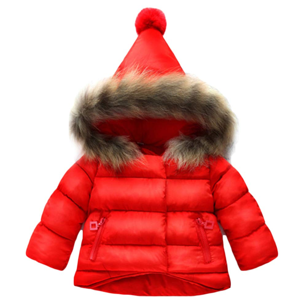 Gaorui Baby Coat Boys Girls Winter Outerwear Warm Parka Down Jacket Hooded Snowsuit