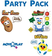 Move2Play Games Party Pack - Includes Red Light Green Light, Pass The Potato, Egg Toss