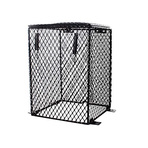 Bhbuy Reptile Heater Guard Heating Bulb Lamp Enclosure Cage Protector Metal Mesh Lamp Shade (Rectangular)