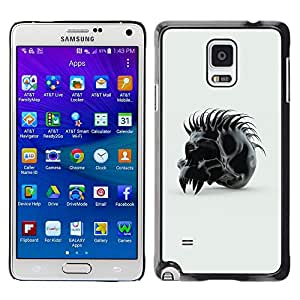 Planetar® ( Spiked Skull ) Samsung Galaxy Note 4 IV / SM-N910F / SM-N910K / SM-N910C / SM-N910W8 / SM-N910U / SM-N910G Fundas Cover Cubre Hard Case Cover