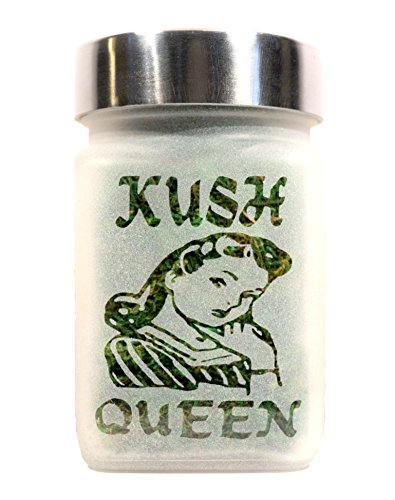 Kush Queen Stash Jar - Weed Accessories, Stoner Girl Gifts & Stash Jars