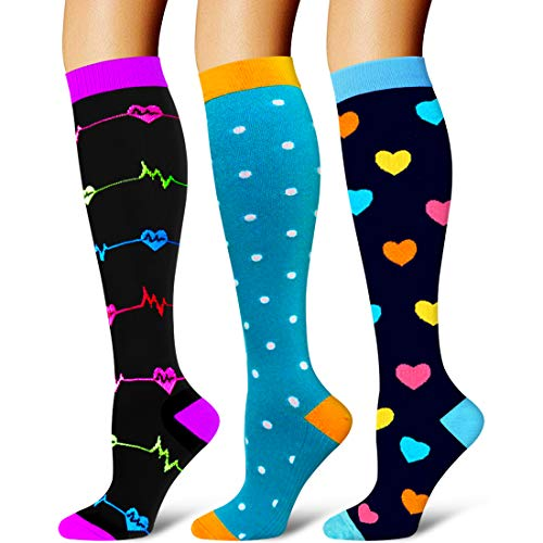 Compression Socks Women & Men - Best for Running,Cycling,Athletic Sports,Flight Travel Hiking and Pregnancy