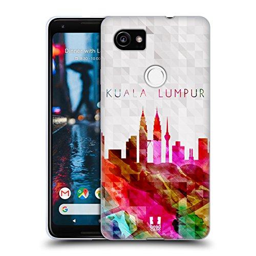 Head Case Designs Petronas Towers Kuala Lumpur Malaysia Watercoloured Skyline Soft Gel Case for Google Pixel 2 (Lumpur Tower)