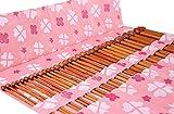 Straight Knitting Needles Set 11-Pairs Bamboo 10