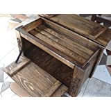 Wooden Shoe Box Cupboard Cabinet Rack Hallway Pine Storage Seating Bench (MT2)