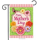 """Happy Mother's Day Floral Garden Flag Butterfly Flowers 12.5"""" x 18"""""""