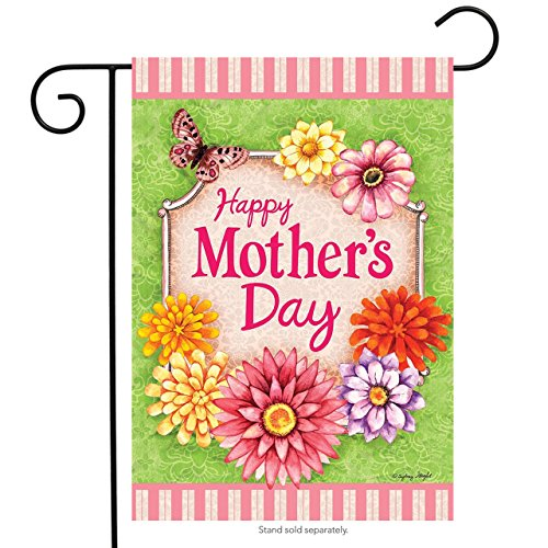 Happy Mother's Day Floral Garden Flag Butterfly Flowers 12.5