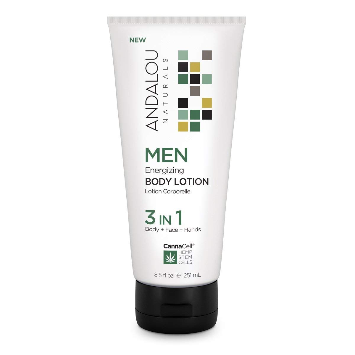 Andalou Naturals CannaCell MEN Energizing 3-in-1 Body Lotion 8.5 fl oz