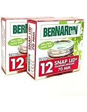 Bernardin Mason Jar Lids BPA Free - Standard - Silver, 70 mm, 12 Lids (2 Pack)