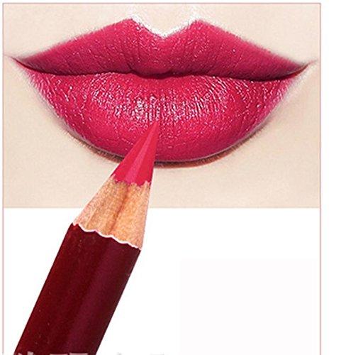 Lip Coloring Crayon (Bolayu Lip Liner Pencil Lipstick Long Lasting Microblading Permanent Makeup Tattoo Pen (J))
