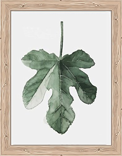 YOMIA 3D DIY Diamond Painting Cross Stitch Fig Leaf Watercolor Patterns, Crystal Rhinestone Diamond Decorating Wall Stickers for Adults